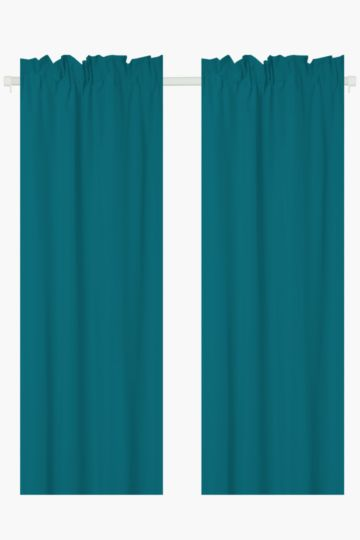 Microfibre Twin Pack Curtain