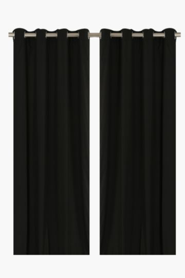 Microfibre Twin Pack Eyelet Curtain