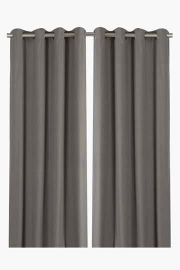 Microfibre Twin Pack Eyelet Extra Width Curtain