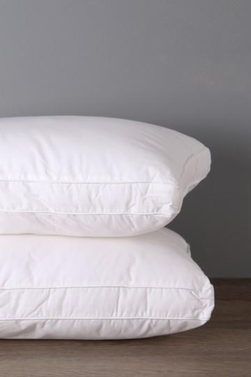 Hollow Fibre 100% Cotton Standard Pillow Medium Support