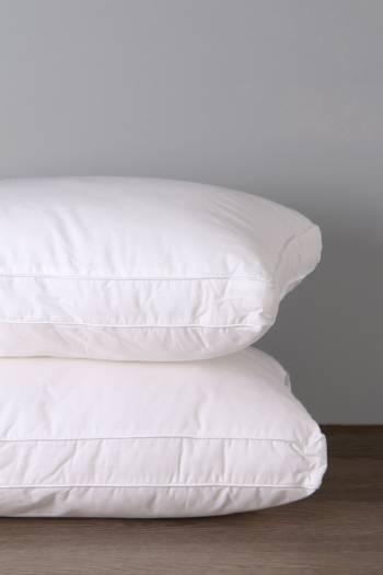 Hollow Fibre 100% Cotton Standard Pillow Firm Support