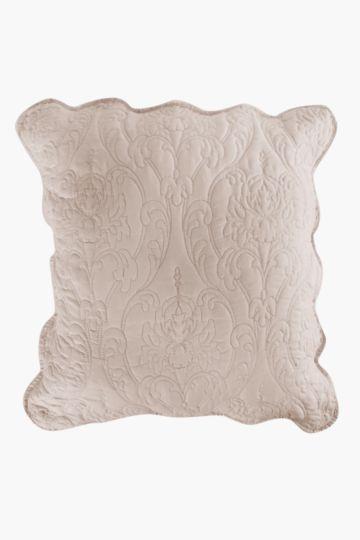 Microfibre Scallop Edge Scatter Cushion 60x60cm