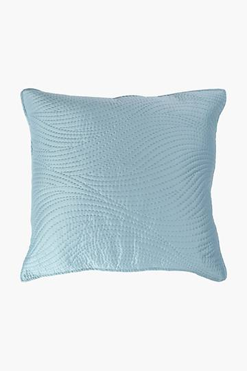 Micro Satin Curve Scatter Cushion, 60x60cm