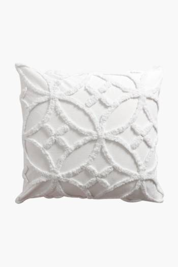 Feather Filled Candlewick Scatter Cushion, 60x60cm