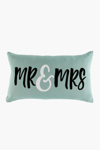 Mr And Mrs Scatter Cushion 30x50cm