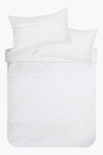 Microfiber Pintuck Duvet Cover Set