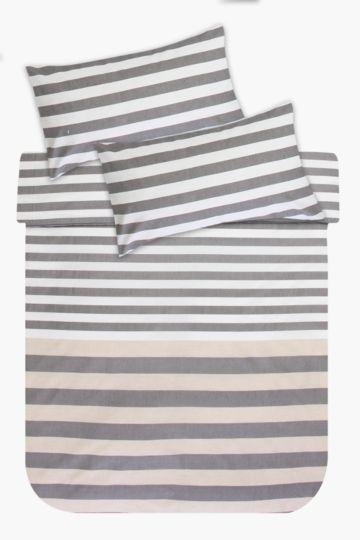 Polycotton Stripe Duvet Cover Set