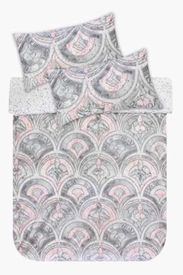 Printed Polycotton Duvet Cover Set