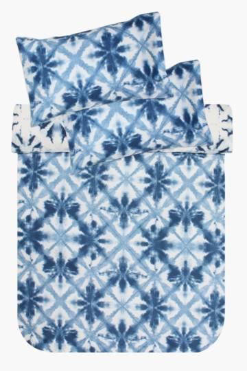 Microfibre Printed Geometric Tie Dye Bed In A Bag