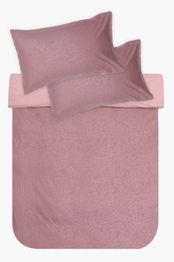 Microfibre Embossed Rose Duvet Cover Set
