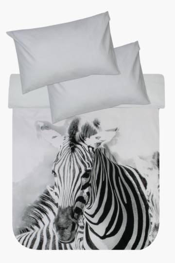 Photographic Zebra Duvet Cover Set