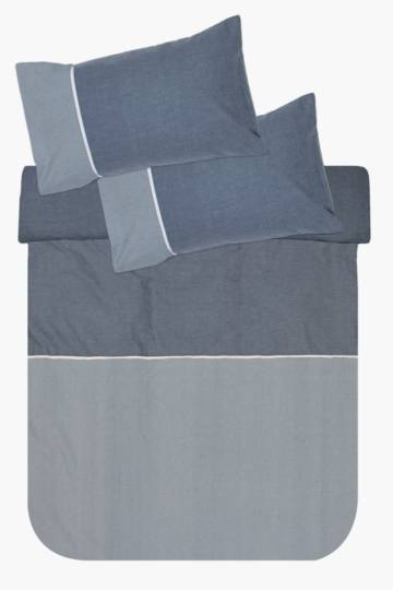 Textured Panel Duvet Covet Set