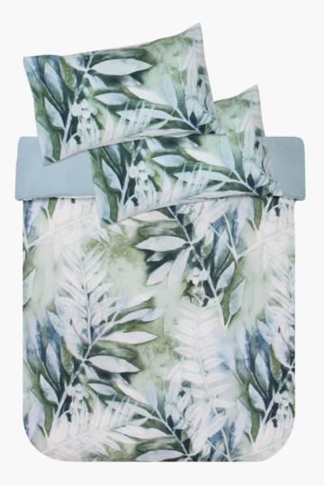 Printed Leaf Duvet Cover Set