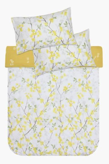 Printed Floral Polycotton Duvet Cover Set