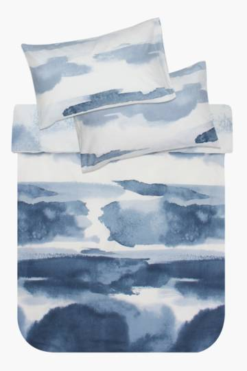 Printed Polycotton Abstract Duvet Cover Set