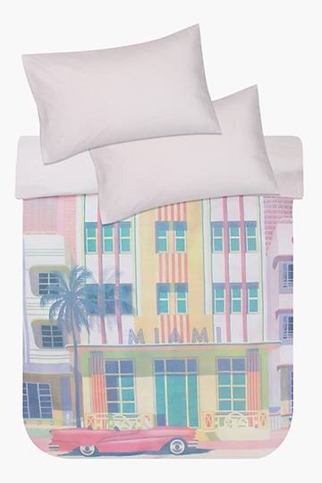 Printed Miami Duvet Cover Set