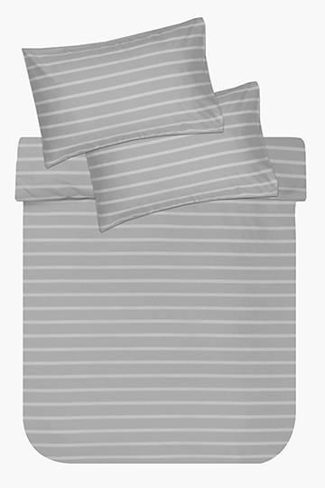 Soft Touch Stripe Mingled Yarn Duvet Cover Set