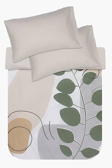 Leaf Fixed Print Polycotton Duvet Cover Set