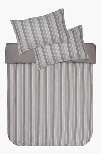 Eco Soft Chambray Stripe Duvet Cover Set
