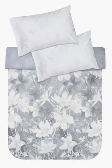 Soft Touch Smokey Flower Duvet Cover Set