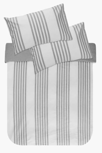 100% Cotton Chambray Classic Stripe Duvet Cover Set