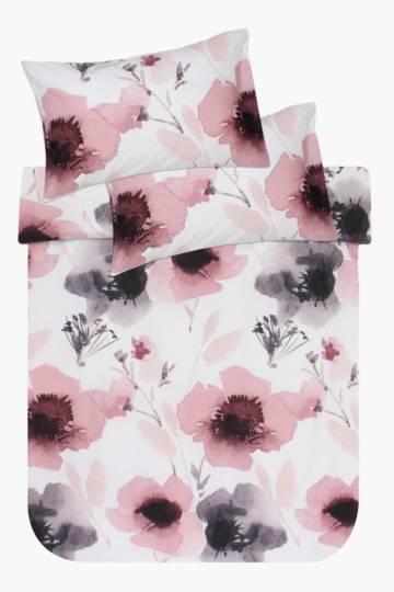 Floral Printed Cotton Duvet Cover Set