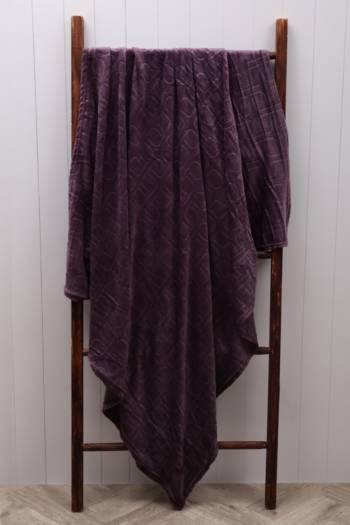 Embossed Coral Fleece Blanket, 125x150cm