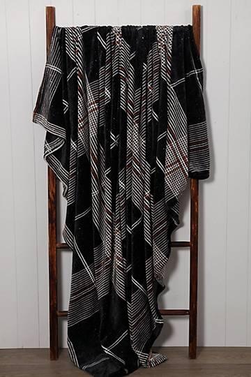 Digital Sherpa Dijon Check Blanket, 150x200cm