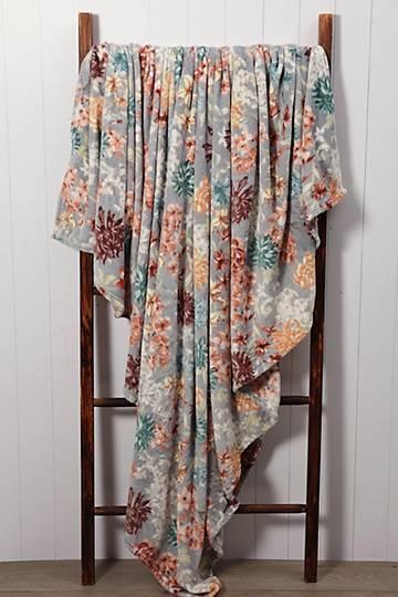 Super Plush Floral Blanket, 200x220cm