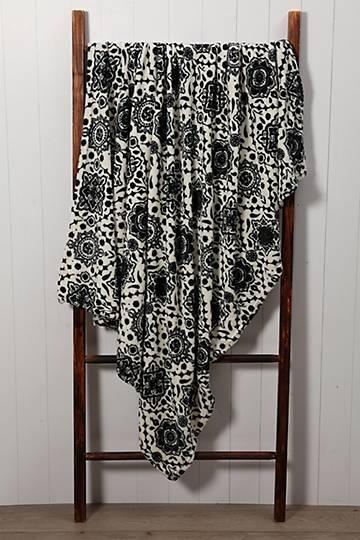 Damask Plush Blanket, 125x150cm