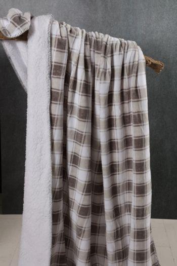 Mink Sherpa Check 150x200cm Blanket