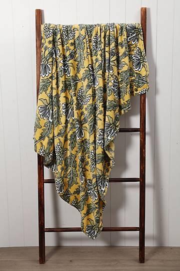 Floral Plush Blanket, 125x150cm