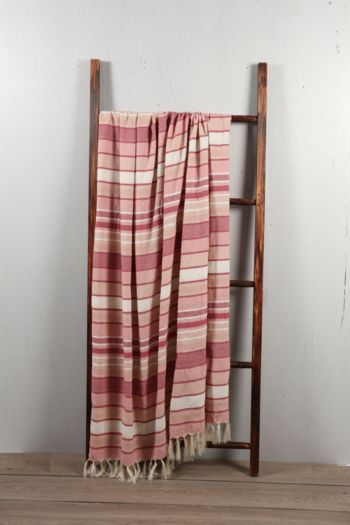 Polycotton Stripe 140x180cm Throw
