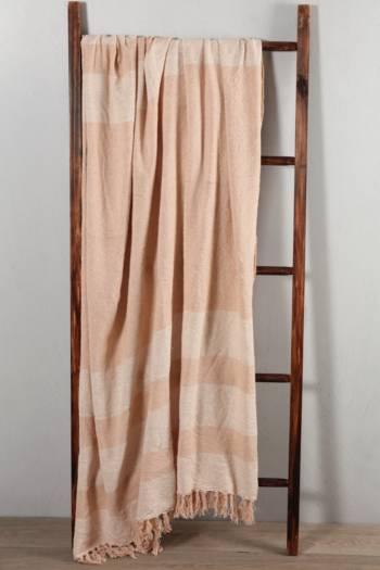 Lurex Stripe 140x180cm Throw