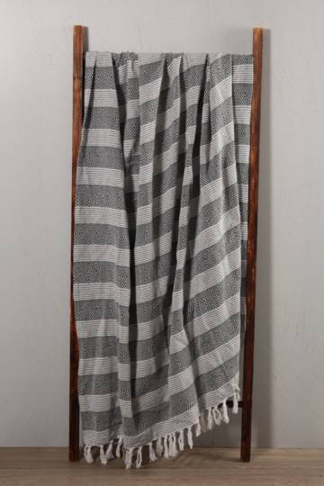 Stripe Cotton Throw, 150x200cm