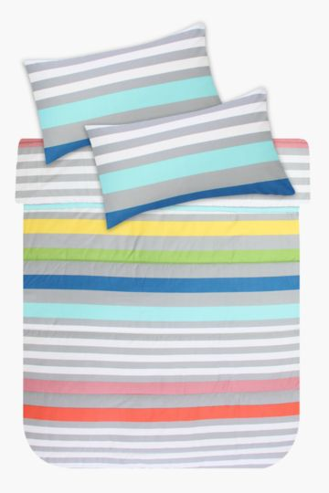 Printed Stripe Comforter Set