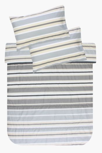 Polycotton Stripe Comforter Set