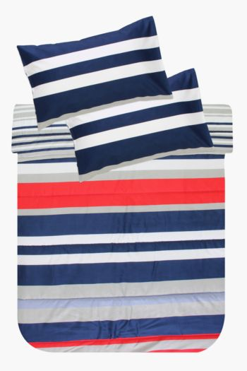 Printed Stripe Comforter Set