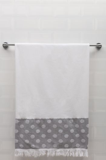Hamman Premium Dotted Border Towel