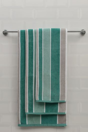 Velour Stripe Towel