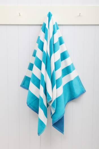 Reversible Cabana Stripe Beach Towel