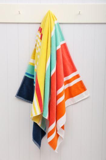 Waikiki Stripe Beach Towel