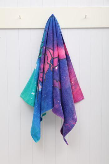 Nebula Unicorn Beach Towel
