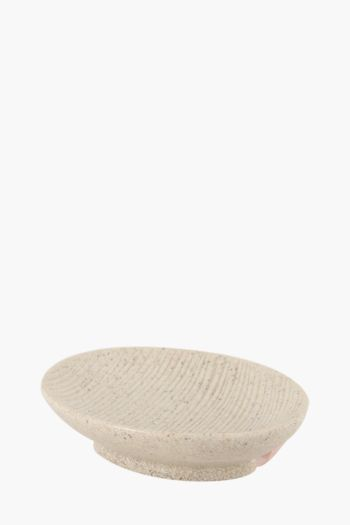 Ribbed Sandstone Soap Dish