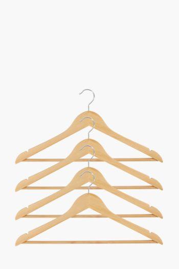 Pack Of 4 Wooden Hangers