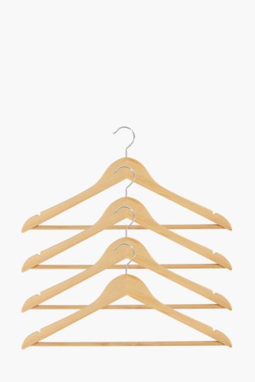 Pack Of 4 Wooden Hangers