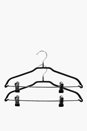 2 Pack Rubber Hangers With Clips