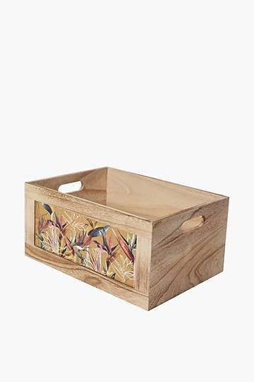 Strelitzia Wooden Crate, Large