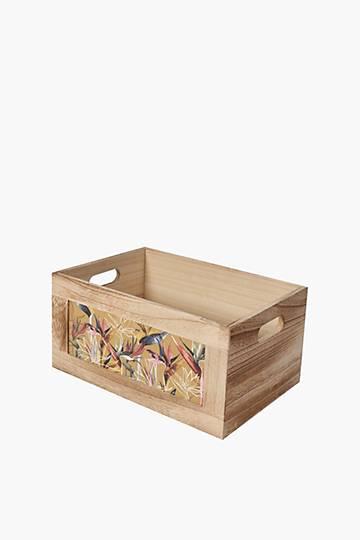 Strelitzia Wooden Crate, Medium