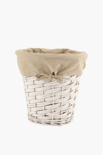 Lined Willow Bin